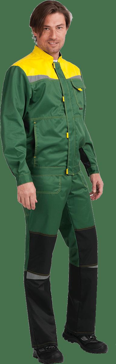 Костюм КМ-10 ЛЮКС, зеленый-желтый